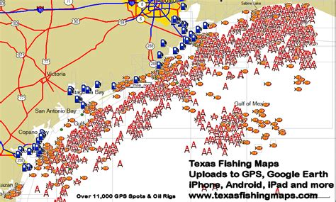 texas drilling map texas gps fishing mapstexas fishing maps and fishing spots