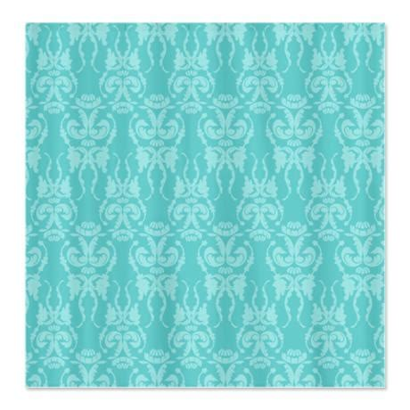 tiffany shower curtain tiffany teal damask shower curtain on