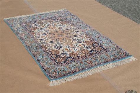 blue rugs for sale vintage sky blue isfahan rug weave ebay