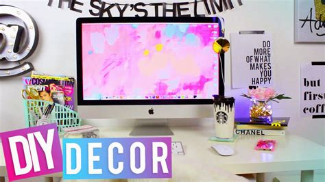 Desk Decor Diy Hellomaphie Desk Tour Diy Desk Decor