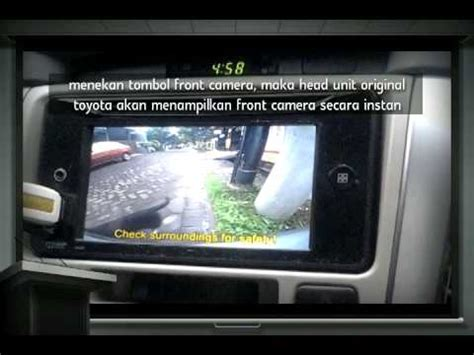 Kamera Mundur Hiro Toyota Fortuner mundur depan toyota