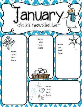 january newsletter freebie bulletin boards pinterest