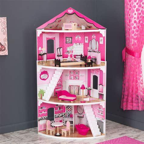 pink dollhouse kidkraft think pink corner dollhouse dollhouses at