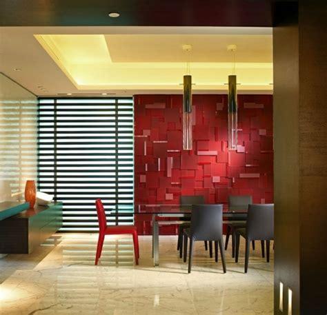 rotes dekor für wohnzimmer esszimmer dekor rot