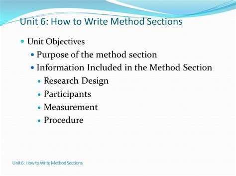 how to write a methods section for a research paper how to write a methods section for a research paper 28