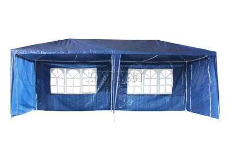 Waterproof Awning by New Waterproof 3m X 6m Pe Outdoor Garden Gazebo Tent