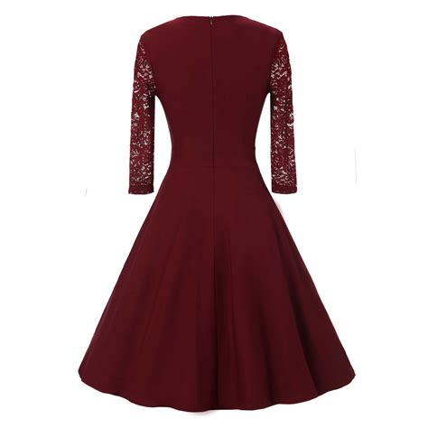 Sleeve A Line Midi Lace Dress lace sheer sleeve formal evening wedding midi a