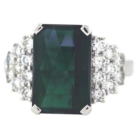 Hq 1 20 Ct Top Gren Tourmaline Turmalin Tm 10 1 7 62 carat blue green tourmaline gold ring for
