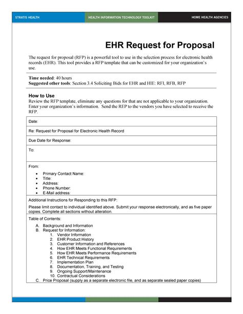 template rfp 40 best request for templates exles rpf