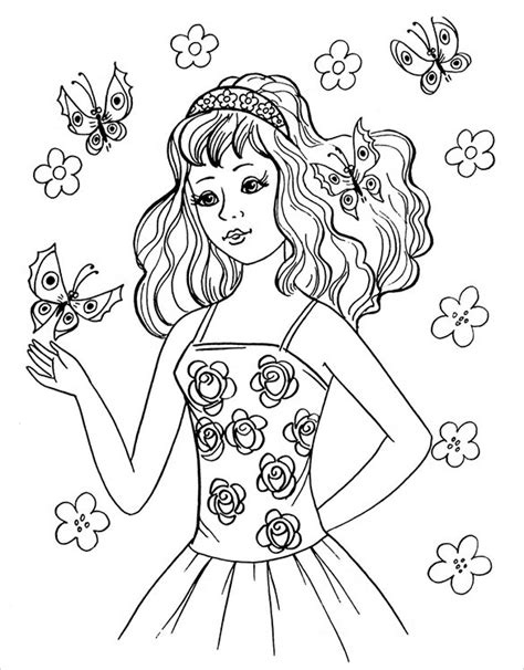 teenager standing coloring pages