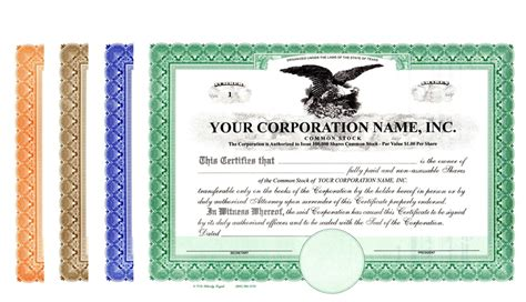 corporate stock certificate template corporation stock certificates