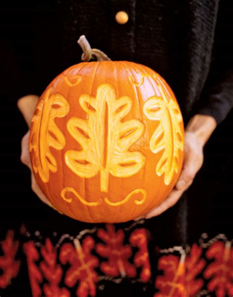 leaf pattern for pumpkin carving pumpkin theme wedding ideas
