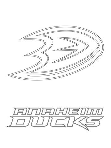 anaheim ducks coloring pages anaheim ducks logo coloring page supercoloring com