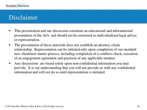 sle of disclaimer science patent prosecution in view of the aia