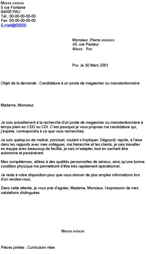 Lettre De Motivation De Quai Manutentionnaire Rtf Lettre De Motivation Cuisinier Sans Diplome