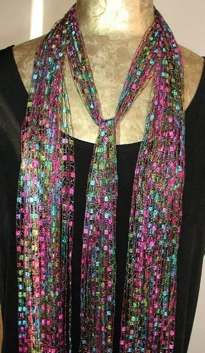 pattern ladder yarn scarf the o jays yarns and ribbon necklace on pinterest