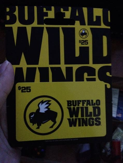 Bww Gift Card - 25 buffalo wild wings gift card swapped pinterest