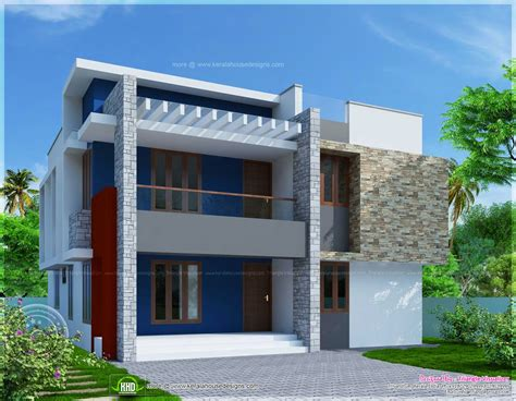 simple house plan and elevation simple two storied house elevation in 2290 sq feet kerala home design and floor plans