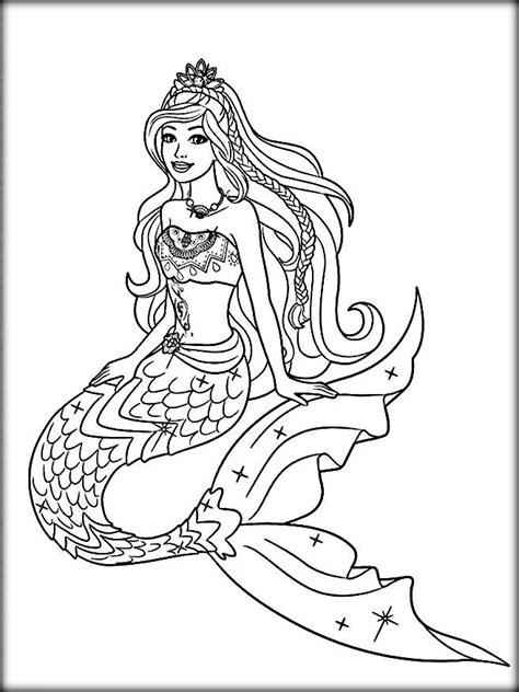 coloring page barbie mermaid disney little mermaid coloring pages barbie color zini