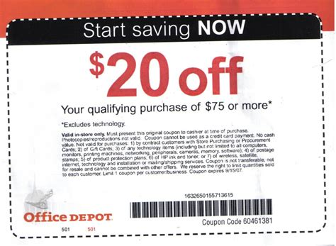 Office Depot Print Coupons Office Depot Coupons In Store Gordmans Coupon Code