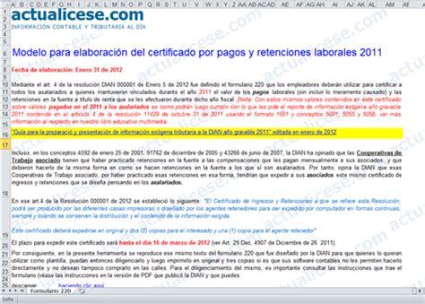 certificados certificado de ingresos y retenciones laborales 2010 187 formulario 220