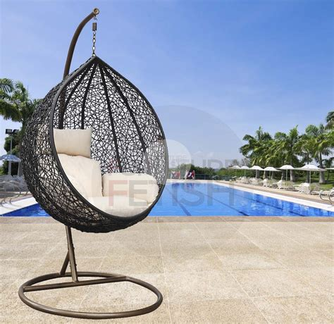 Designer single hanging egg chair cream buy hanging egg chairs amp hanging chairs furniture