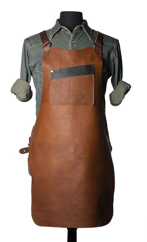 leather woodworking apron calavera tool works rugged leather shop aprons blogs