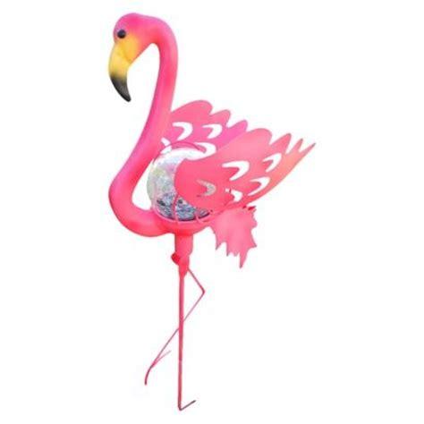 flamingo solar lights pink flamingo garden stake solar light pink