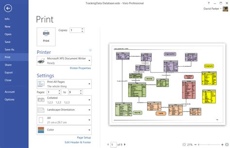 javascript print layout landscape manipulating shapes in visio