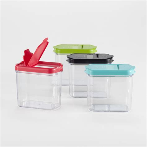 storage plastic containers plastic mini keepers storage containers set of 4 world