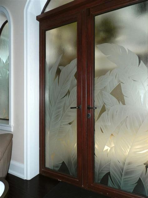Custom Privacy Doors Etched Glass Designs Reflective Custom Etched Glass Doors
