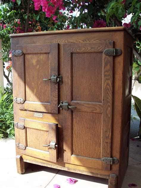 Hoosier Cabinet by 1919 Antique 3 Door Ice Box Wood By Southerncalifornia On Etsy