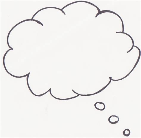 Thinking Outline by Thought Template Clipart Best