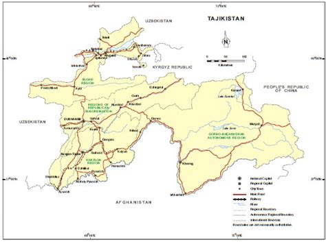 map of tajikistan resources and environment tajikistan