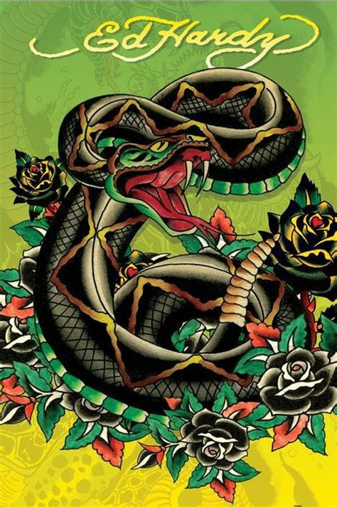 ed hardy tattoo artist ed hardy posters buy this ed hardy snake poster