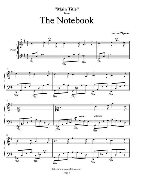 Note Book Running Run 20 Sheet the notebook title piano plateau sheet