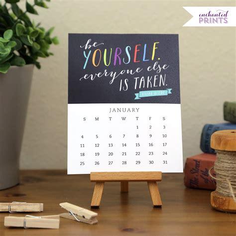 Inspirational Desk Calendar by Printed 2015 Desk Calendar Inspirational And By