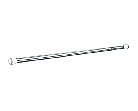pressure curtain pole graber 28 48 inch 3 4 inch round spring tension cafe rod