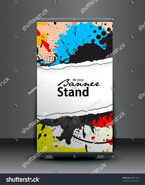 roll up stand design templates a roll up display with stand banner template design