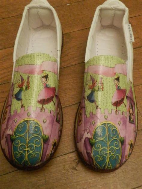 tutorial capazos decoupage zapatillas decoradas con servilletas de raquel abalorios