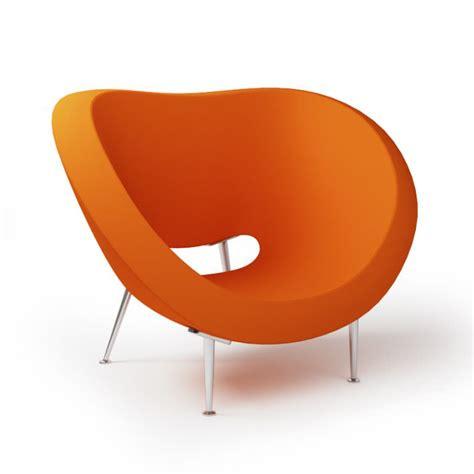 Orange Armchairs by Orange Modern Lounge Armchair 007 Am92 3d Model Cgtrader