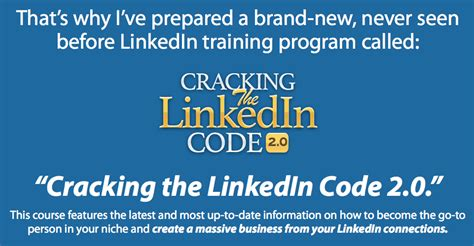 Cracking The Code 2 by Cracking The Linkedin Code 2 0 Makemoney