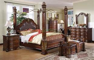 King Size Metal Headboard And Footboard Canopy Bed Sets Bedroom Furniture Sets W Poster Canopy