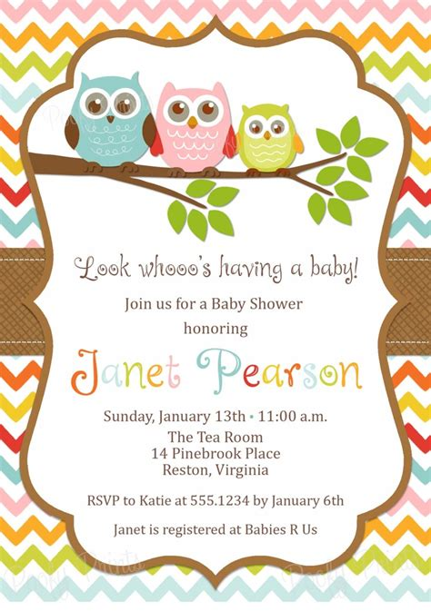 owl themed baby shower invitation template etsy baby shower invitations invitations ideas