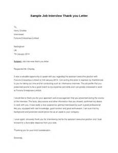 thank you letter to for employment sle thank you letter hashdoc