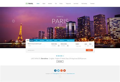 themeforest travel agency travel agency responsive hotel online booking by