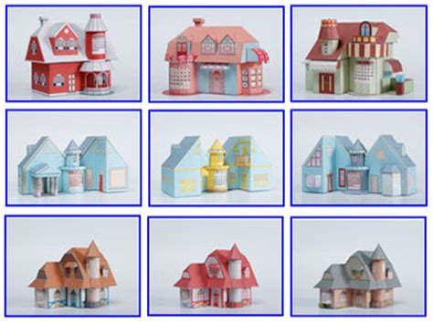 3d Papercraft Models Free - 3d house paper model with calendar pepakura corner