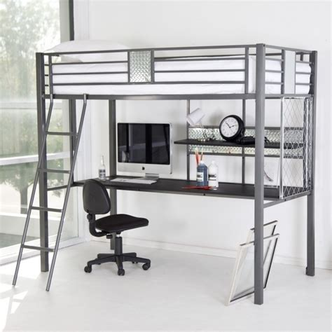 full size metal loft bed full size metal loft bed with desk bed headboards