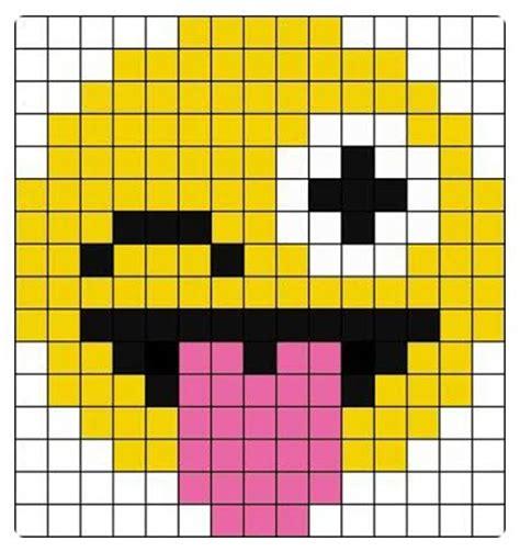 ideas and inspirations perler bead emojis