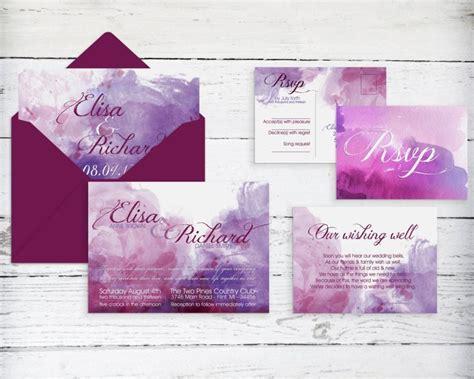 Wedding Invitations Watercolor by Watercolor Wedding Invitation Printable Print At Home
